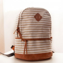 Fresh Striped Canvas Backpacks School Bags