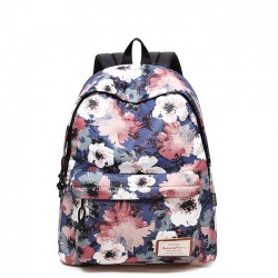Leisure Flower School Bag Large Floral Polyester Backpack