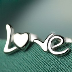 LOVE Letter Sterling Silver Minimalism Original Couple Earring Studs