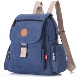 Retro Unisex Flap School Bag Leisure Thick Canvas Travel Backpack