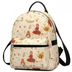 Sweet Cartoon Bear Girls Rucksack Lady Garden Style Backpack
