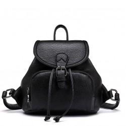 Black White Mini Simple Women College Backpack