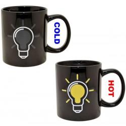 Interesting Bulb Ceramic Mug Heat Discoloration Cup