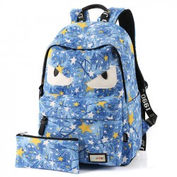 New Star Printing Little Monster School Bag Graffiti Canvas Backpack