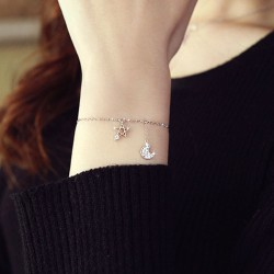 Unique Design Star Moon Fashion Alloy Fashion Women Bracelet