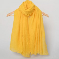 Solid Color Shawl Scarf Dual Long Crimping Scarf