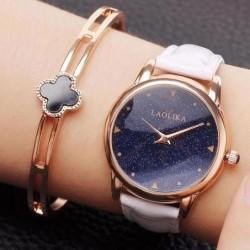 Unique Circular Shining Starry Sky Dial Galaxy Waterproof Women Quartz Watch