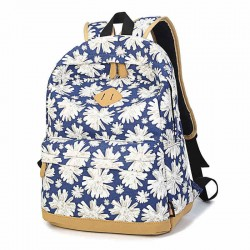 Women Girl Fresh Vintage Cute Floral Flower School Book Campus Bag Canva Backpack