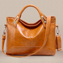 Elegant High Capacity Solid Color Shoulder Messenger Locomotive Bag Handbag
