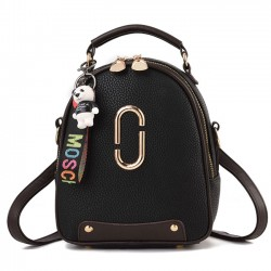 Fresh PU Leather Small Lady Shoulder Bag Handbag Backpack