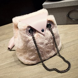 Cute Wool Owl Shoulder Bag Chain Messenger Bag