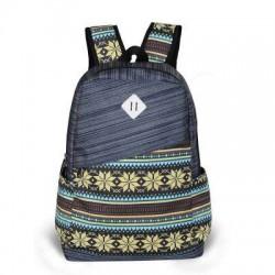 Folk Fresh Geometry Trunk Travel Backpack Satchel School Bag