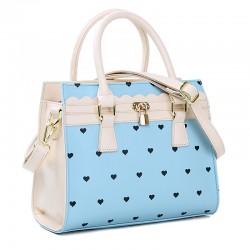 Fresh Heart-shaped Lock Shoulder Bag&Messenger Bag