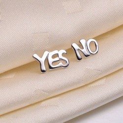 Funny Letter YES NO Anti Allergy Girl's Earring Studs