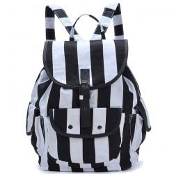 Leisure Striped Folk Style Geometric Backpack
