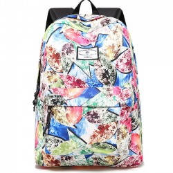 Unique Leaves Print Graffiti Large Student Bag Travel Backpack