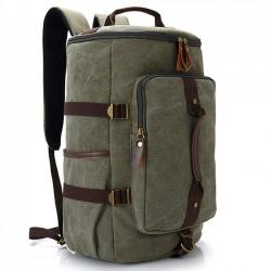 Retro Multifunction Zipper Large Capacity Travel Rucksack Men's Gym Shoulder Bag Handbag School Canvas Backpack