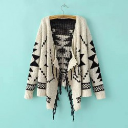 Tassel Kimono Loose Brocade Cardigan