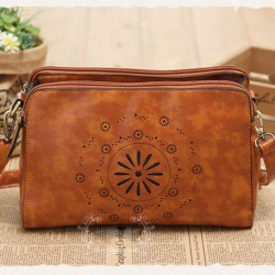 Original Fresh Hellow Out Flower Retro Shoulder Bag