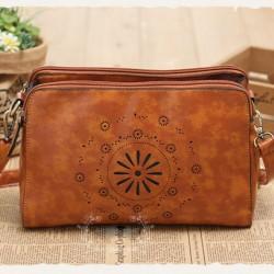 Original Fresh Hellow Out Flower Retro Shoulder Bag