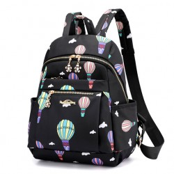 Cute Cartoon Hot Air Balloon Oxford Nylon School Bag Student Backpack