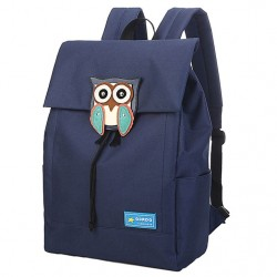 Cute Owl Waterproof College Rucksack Leisure Solid Travel Canvas Backpacks