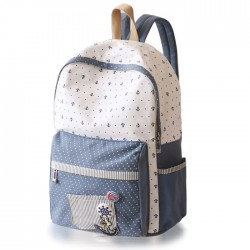 Fresh Polka Dot Anchor School Canvas Backpacks