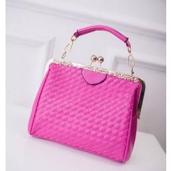 Weave Classical Lock Summer Shoulder Bag&Handbag