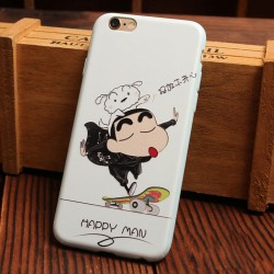 Cute Bear Cat Happy Glasses Boy Relief Silicone Soft Iphone Cases For 6/6Plus