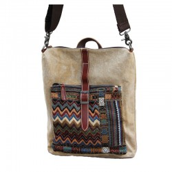Fresh Folk Original Zigzag Multifunction Canvas Backpacks