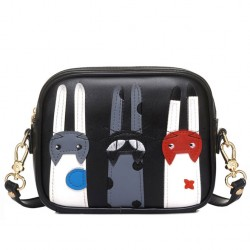 Cute Cartoon Cat Messenger Bag Kitten Patch Shoulder Bag