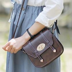 New Buckle Mini British Style Women Messenger Bag Shoulder Bags