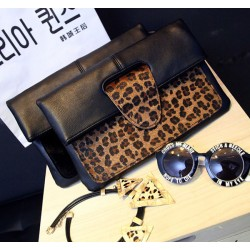 Ladies Horsehair Leopard High-end Packet Envelope Bag