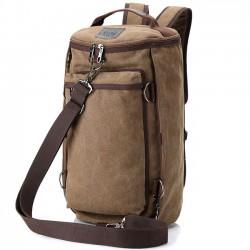 Fashion Bucket Bag Multifunction Large Travel Outdoor Bag Gym Shoulder Bag Canvas Camping Backpack