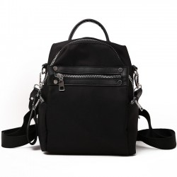 Leisure College Multi-function Shoulder Bag Red Black Nylon Student Backpack