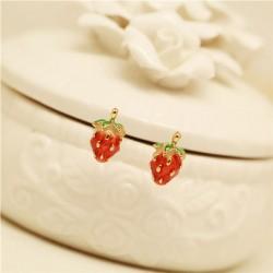 Sweet Fresh Cute Strawberry Stud Earrings