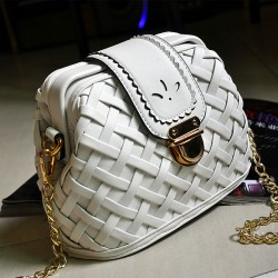 Weave Grid Retro Chain Shoulder Bags