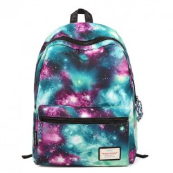 Vintage Galaxy Colorful Couple Waterproof Backpack School Bag