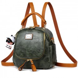 Retro Multi-function Small Square PU Shoulder Bag Handbag Backpack