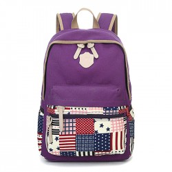 Leisure Flag Patchwork School Canvas Backpacks