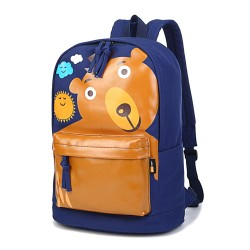 Funny Cute School Bag Smile Bear Clouds Sun Pattern Computer Backpack Rucksack