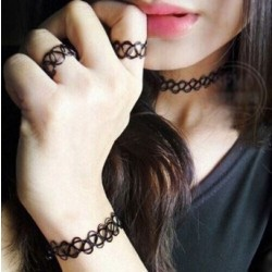 Elastic Tattoo Choker Necklace/Bracelet/Anklet/Leg Chain/Ring