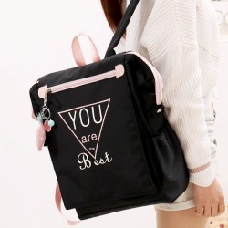 Sweet High School Campus Large Canvas Square College Backpack