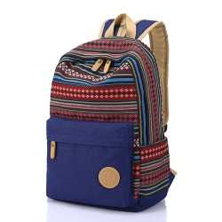 Folk Geometry Pattern Mixed Colors School Bag Travel Computer Backpack