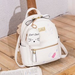 Cute Ice-Cream Love Cartoon Mini Embroidery Soft PU Small Student Backpack