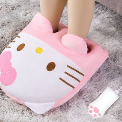 Cute Pillow USB Office Winter Warmer Monkey Cat Kitty Pig Cartoon Animal Hand Foot Warmer