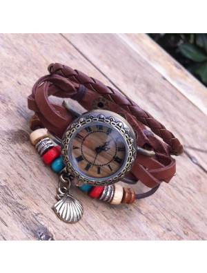 Original Wrap Rope Leather Bracelet Watch