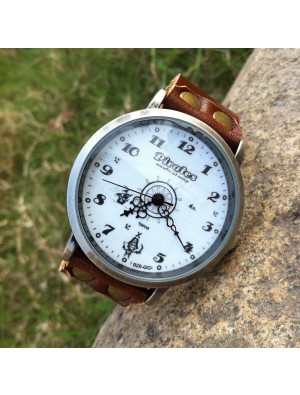 Retro Pirate Rudder Leather Watch