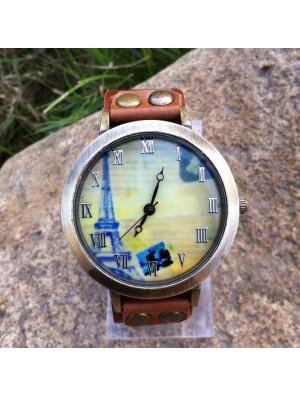 Retro Original Eiffel Tower Leather Watch