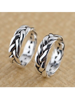 Vintage Sterling Silver Hand Braid Ring